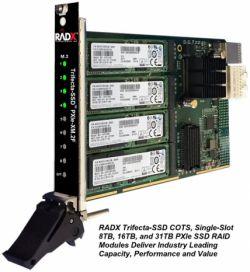 Nowe karty PXIe z modułami SSD RAID