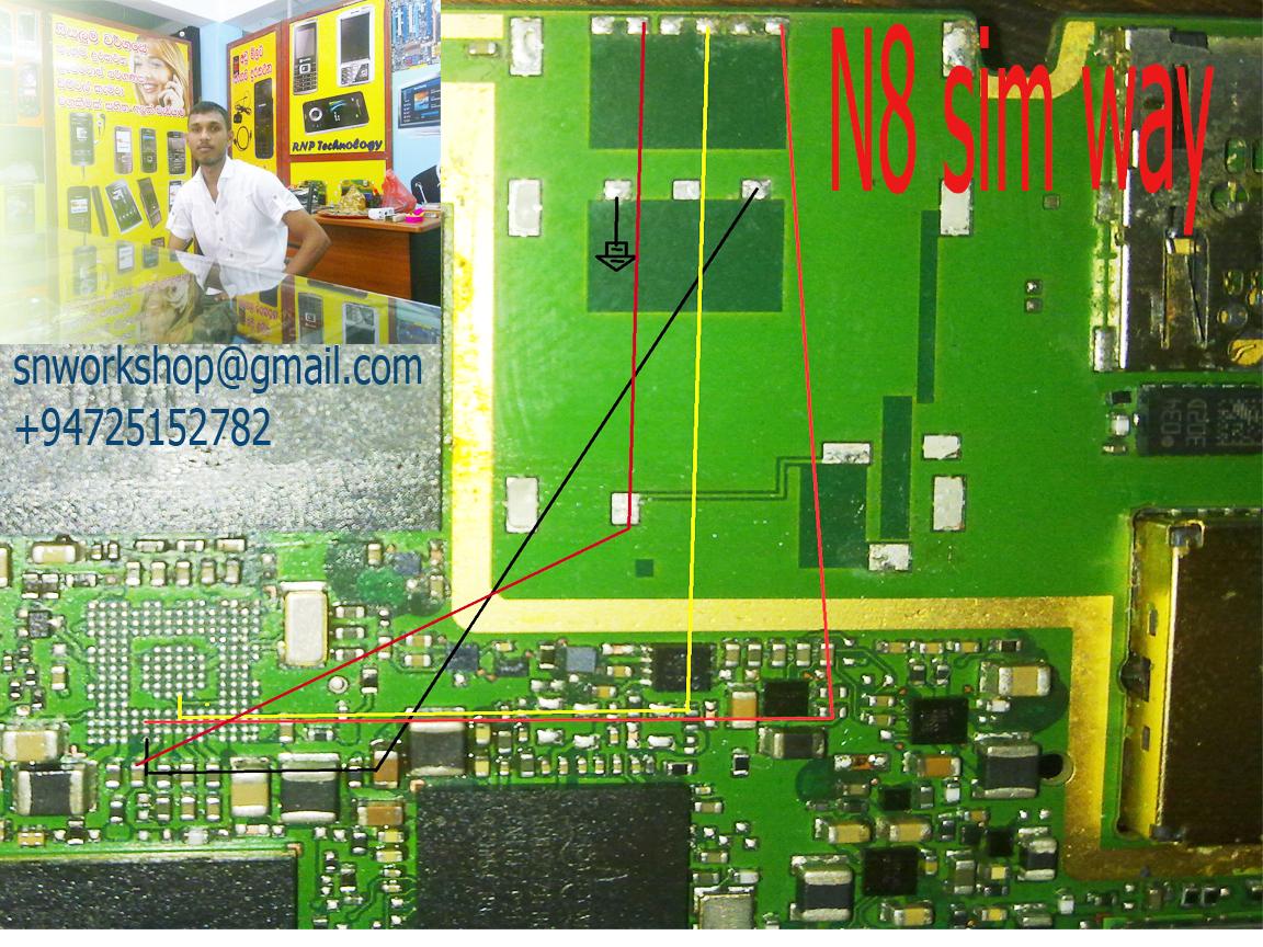 Nokia n8 sim karten slot reparieren
