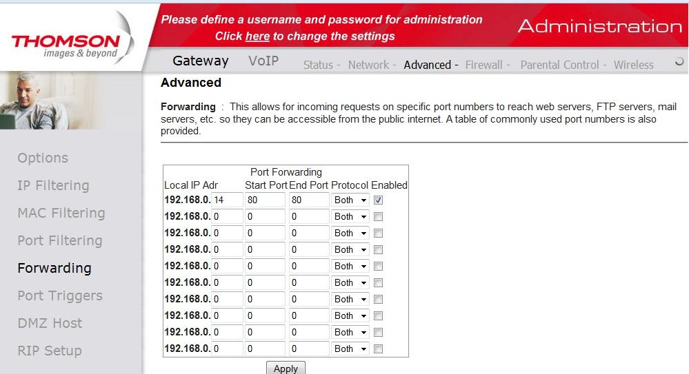 Udost�pnienie lokalnego adresu IP