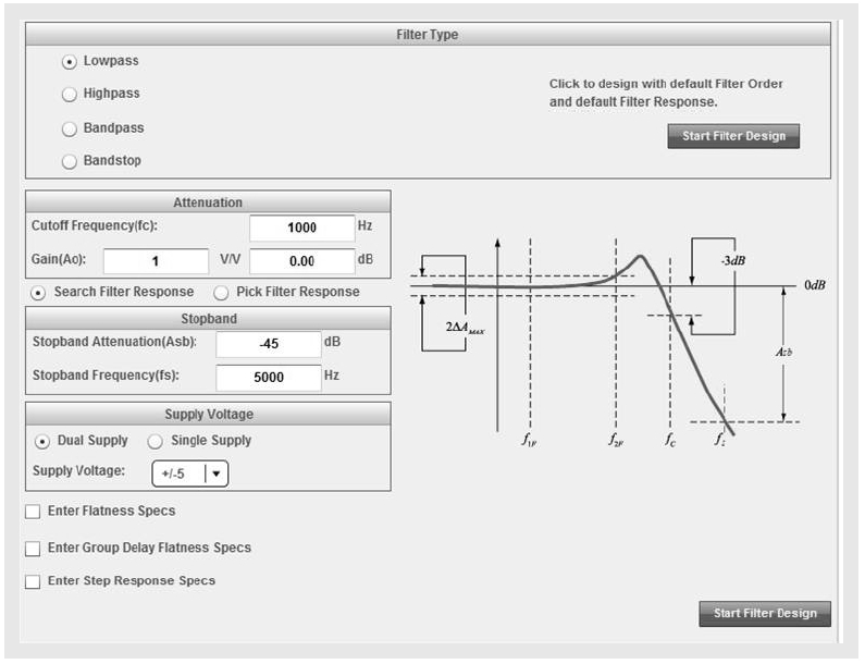 �atwe projektowanie aktywnych filtr�w analogowych