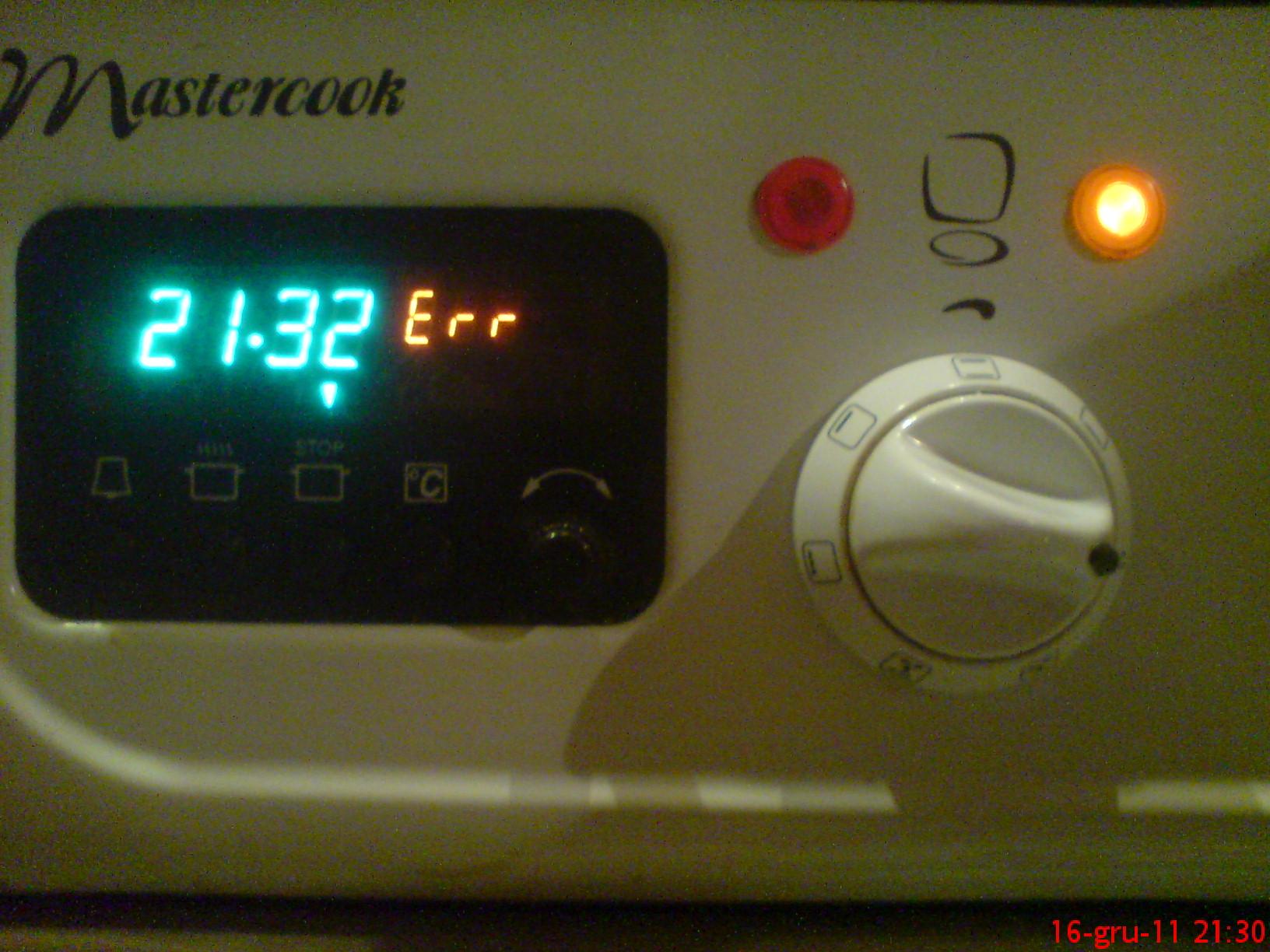 Kuchnia Mastercook TYP 3400- Error, nie dzia�a grzanie piekarnika.