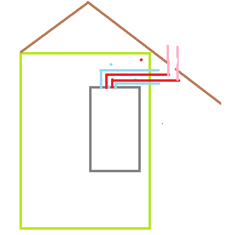 Jak wyprowadzić przewód kominowy z pieca Vaillant turbo max plus?