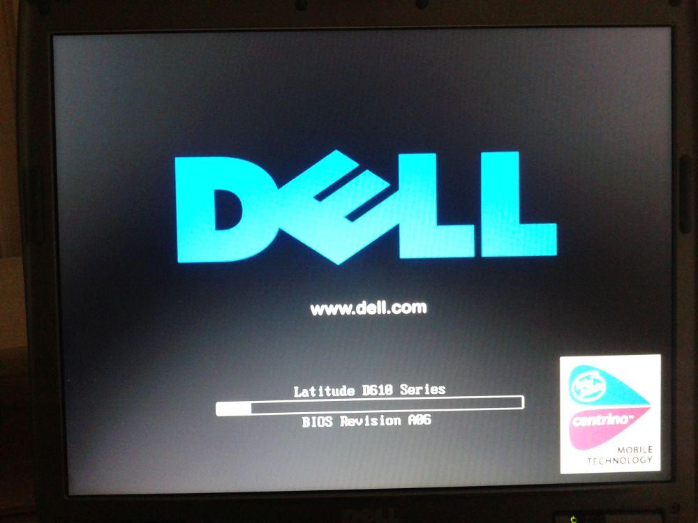 Dell D610 Latitude - Zawiesza si� w trakcie uruchamiania