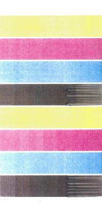 Ricoh Aficio 3224C - Rozmazana przednia krawędź wydruku