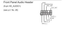 Pod��czenie wej��/wyj�� z przedniego panelu, p�yta g��wna ASRock P67 Pro