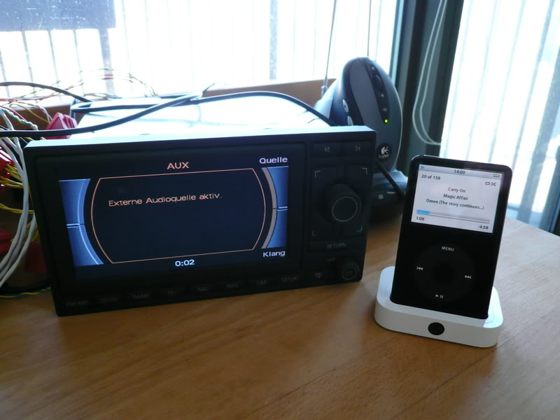 Audi nawigacja Aisin RNS-E- pod�czenie zewn�trznego mp3