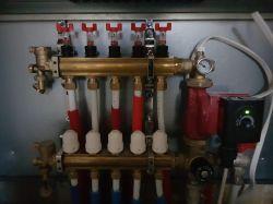 Ogrzewanie Podłogowe - niska temperatura na rozdzielaczu.