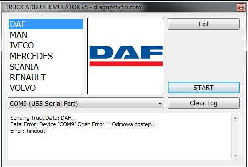 Emulator adblue daf xf 105