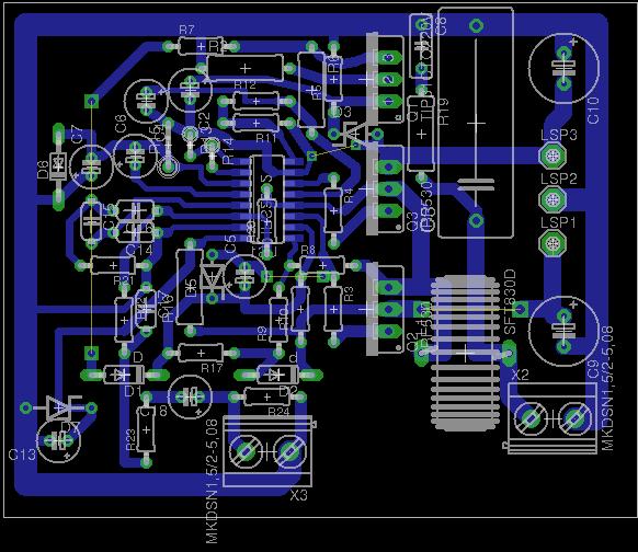 eagle]Prośba o sprawdznie PCB, wzmacniacz PWM - elektroda pl