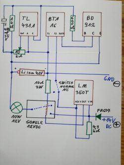 Ładowarka akumulatorków z płynną regulacją - LM 317