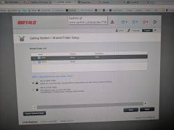 LS220D990 - Informacja o braku folderu share