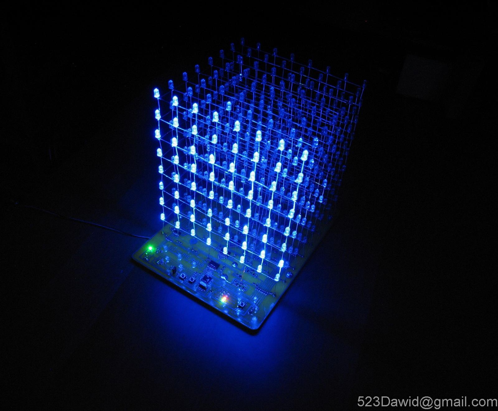 Led Cube 8x8x8 @Atmega16