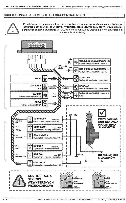 VW Lupo + Quasarelectronic CDU-3. Z otwarciem zamka otwiera si� szyba.