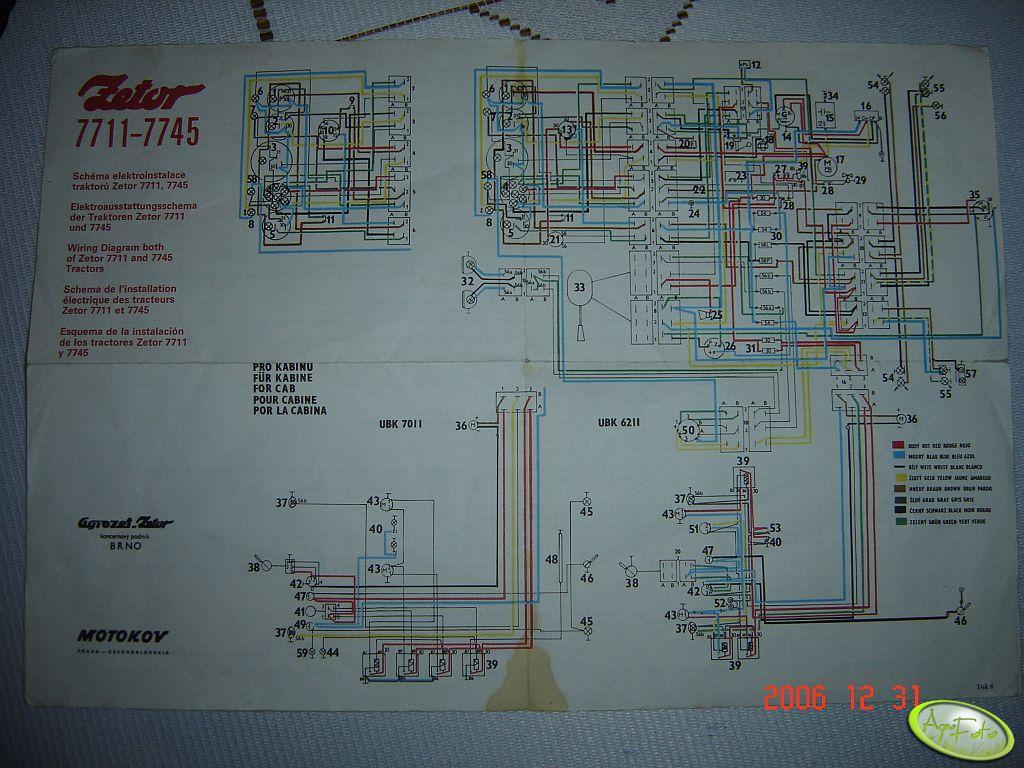 Zetor 5211 instalacja schemat .