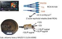 BOSE - Subwoofer z Mazdy 6 aktywny jak podlaczyc pod kabel RCA