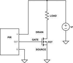 Sterowanie paska LED przy pomocy czujnika ruchu HC-SR501