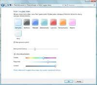 zmiana kolorów windows 7 bez efektu Aero
