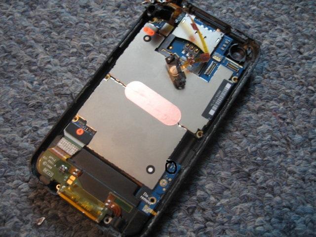 iphone 3g odpad� niebieski chyba kondensator