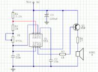 Generator akustyczny 400Hz NE555