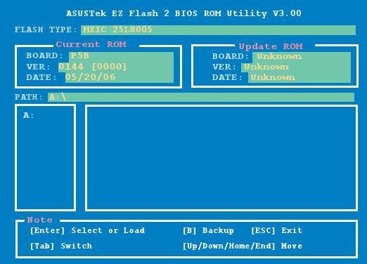 Asus P5B (775) - aktualizacja BIOSU przez EZ Flash 2