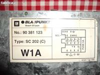 Blaupunkt SC202C - Podłączenie ISO, 2 masy.