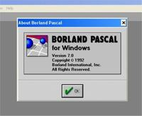 Borland Pascal ///Windows 7 ultimate x64