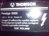Thomson Prestige 2000 - brak reakcji pilota rct-3003