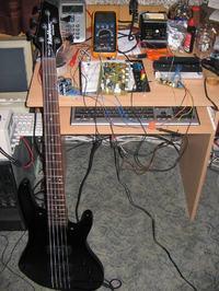 Preamp do gitary , przedwzmacniacz na tranzystorach.