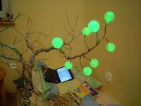 Drzewko z Fafkulców II + sterownik 40 diod RGB