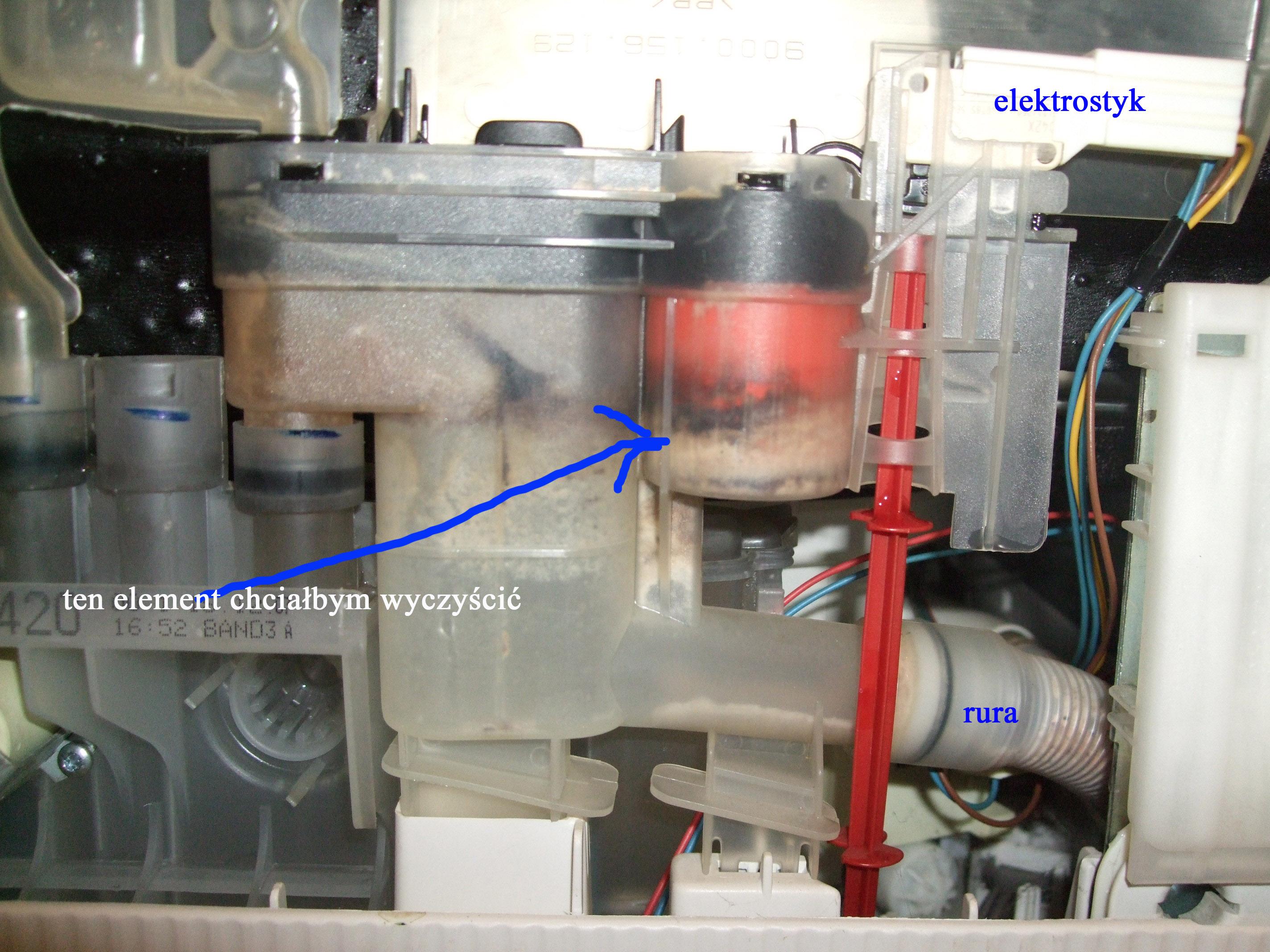 Zmywarka Bosch sd1301b zakamienione elementy zmywarki, kranik