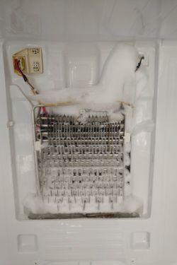 Lodówka Samsung RF62HERS - lód na tylnej ścianie chłodziarki
