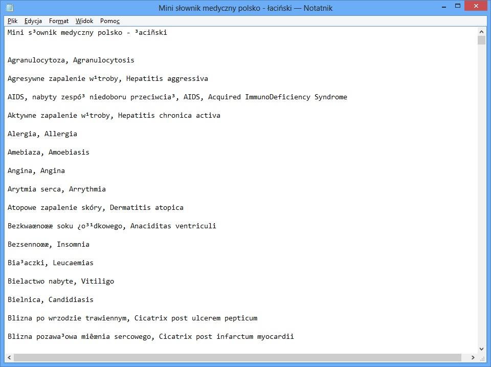 Windows 8 Pro - Niepoprawne wy�wietlanie polskich znak�w po spolszczeniu.