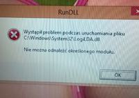 Acer - Bład RunDLL na windows 8.1