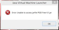 Java Virtual Machine Launcher - ERROR