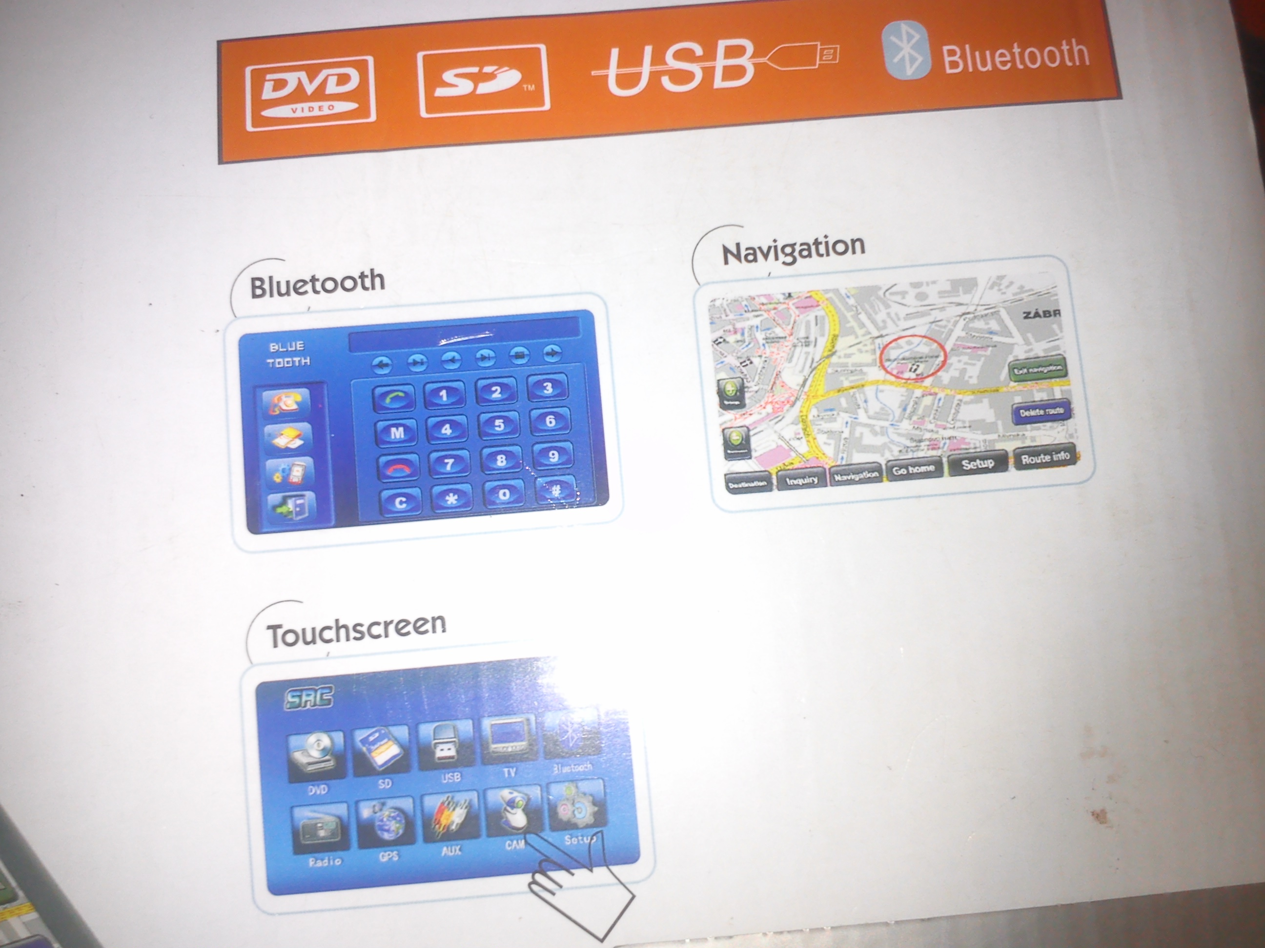 touchscreen dvd with nawigation system