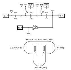 Akumulator Makita BL1013 - Uszkodzony termistor. Jaki ?