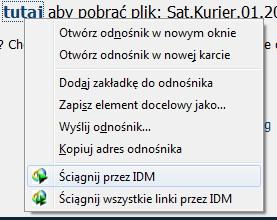 przegladarki - Brak menu kontekstowego