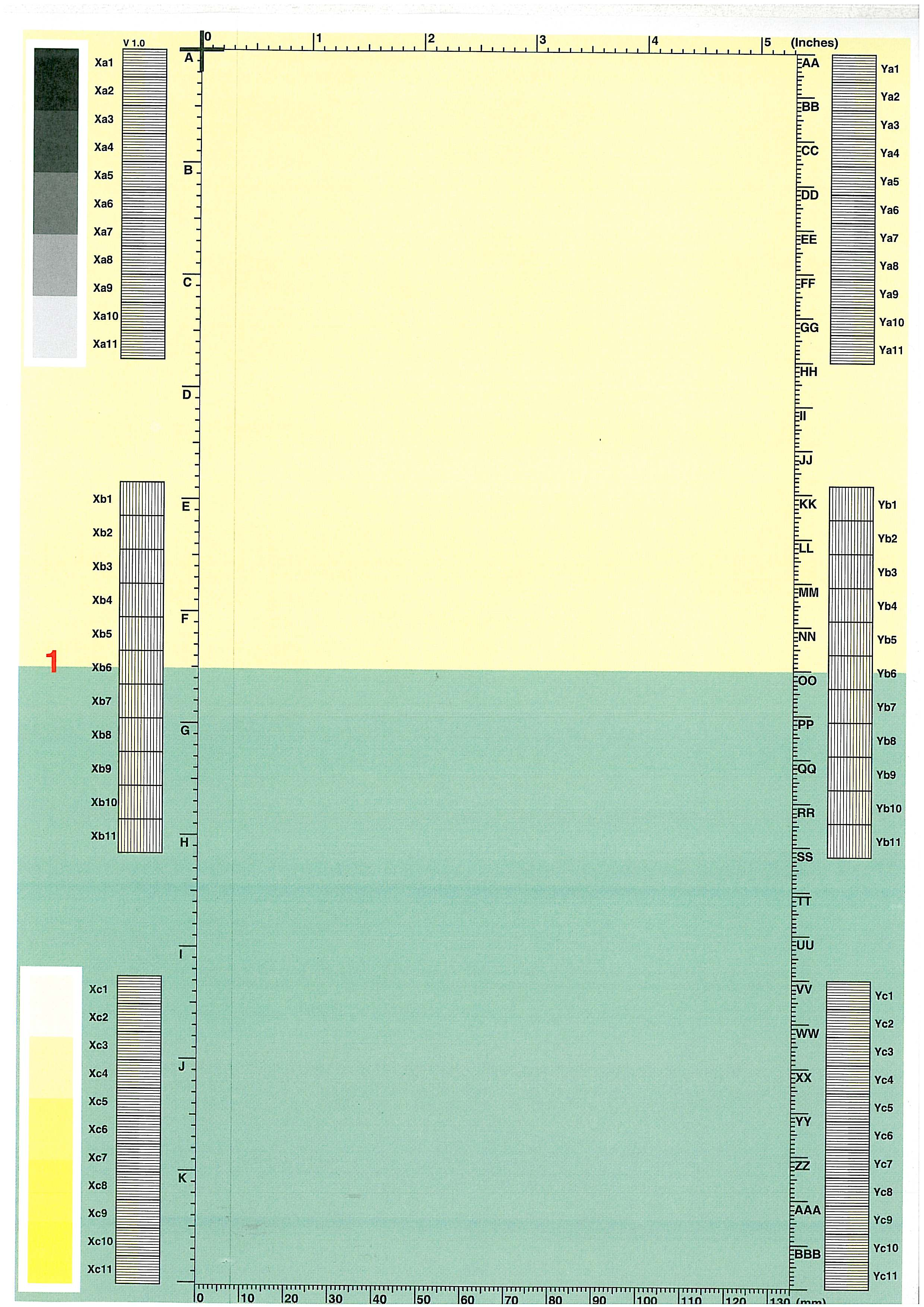 HP 3525 - poziomy pasek na wydruku