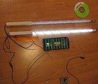 Miecz świetlny ze świetlówek. Przedstawiony projekt.