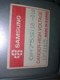 Mokrofalówka Samsung RE-1200 ogień z magnetronu