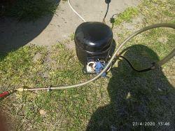 Pompa próżniowa do klimatyzacji z agregatu od lodówki