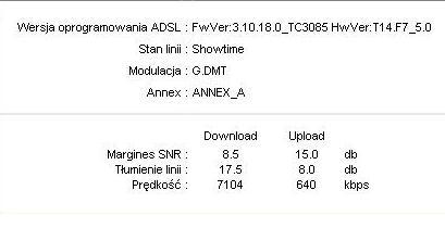 Mo�liwo�ci linii - ADSL2+ 20mb