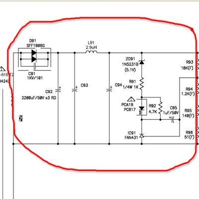 Uszkodzony zasilacz w DVD SAMSUNG HT-TZ315 (ORTP-616; X-30/Z-310)