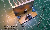 Wzmacniacz audio oparty o układ scalony TDA2050
