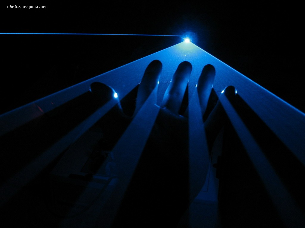 Prosty skaner laserowy na zwyk�ym silniku DC