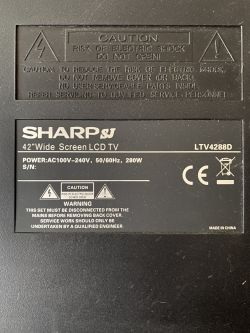 Sharp SJ LTV4288D - Looking for dump file for Sharp SJ model LTV4288D ,mainboard
