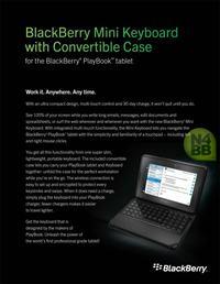 BlackBerry Mini Keyboard - obudowa zamieniająca tablet PlayBook w netbook`a