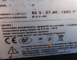 Prostownik do baterii LI ION 60V 20Ah