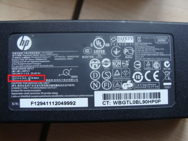 HP g7-1020sw - Pod��czona inna �adowarka. Nie wstaje na prawid�owej �adowarce