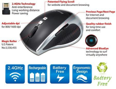 Genius DX-ECO - bezprzewodowa mysz optyczna, kt�ra nie potrzebuje baterii